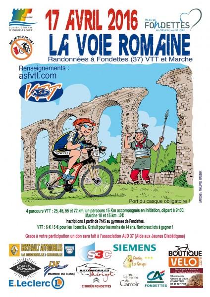 """Affiche """"La Voie Romaine 2016"""""""