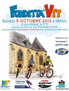 Affiche Fondett'a VTT 2013